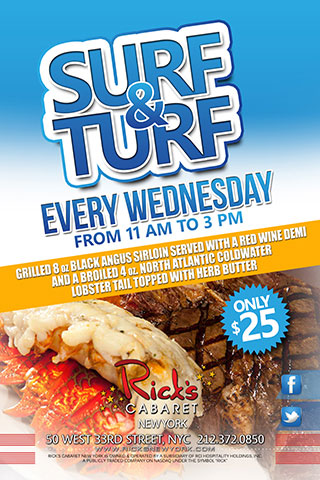 Surf and Turf Wednesday's